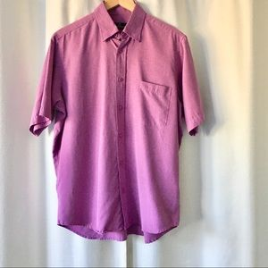 Bugatchi Uomo Orchid short sleeve button up shirt